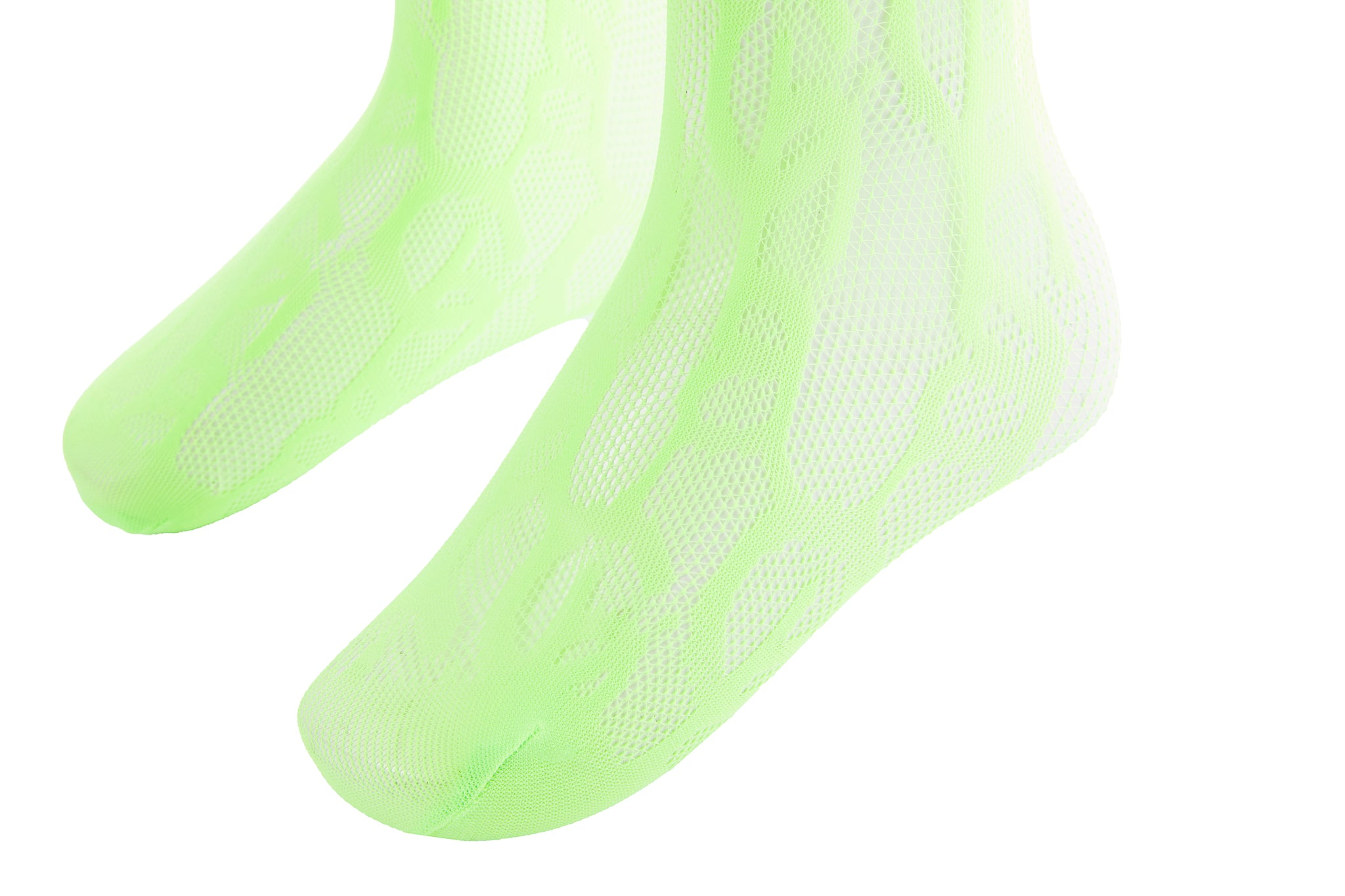 Laulau Chichi Crochet Socks, Neon Green