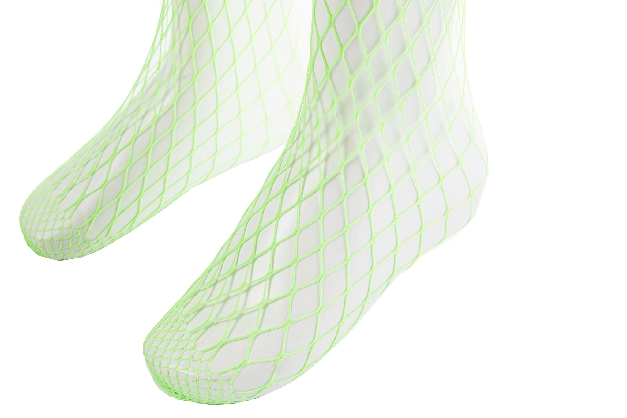 Fishnet Tights, Neon Green