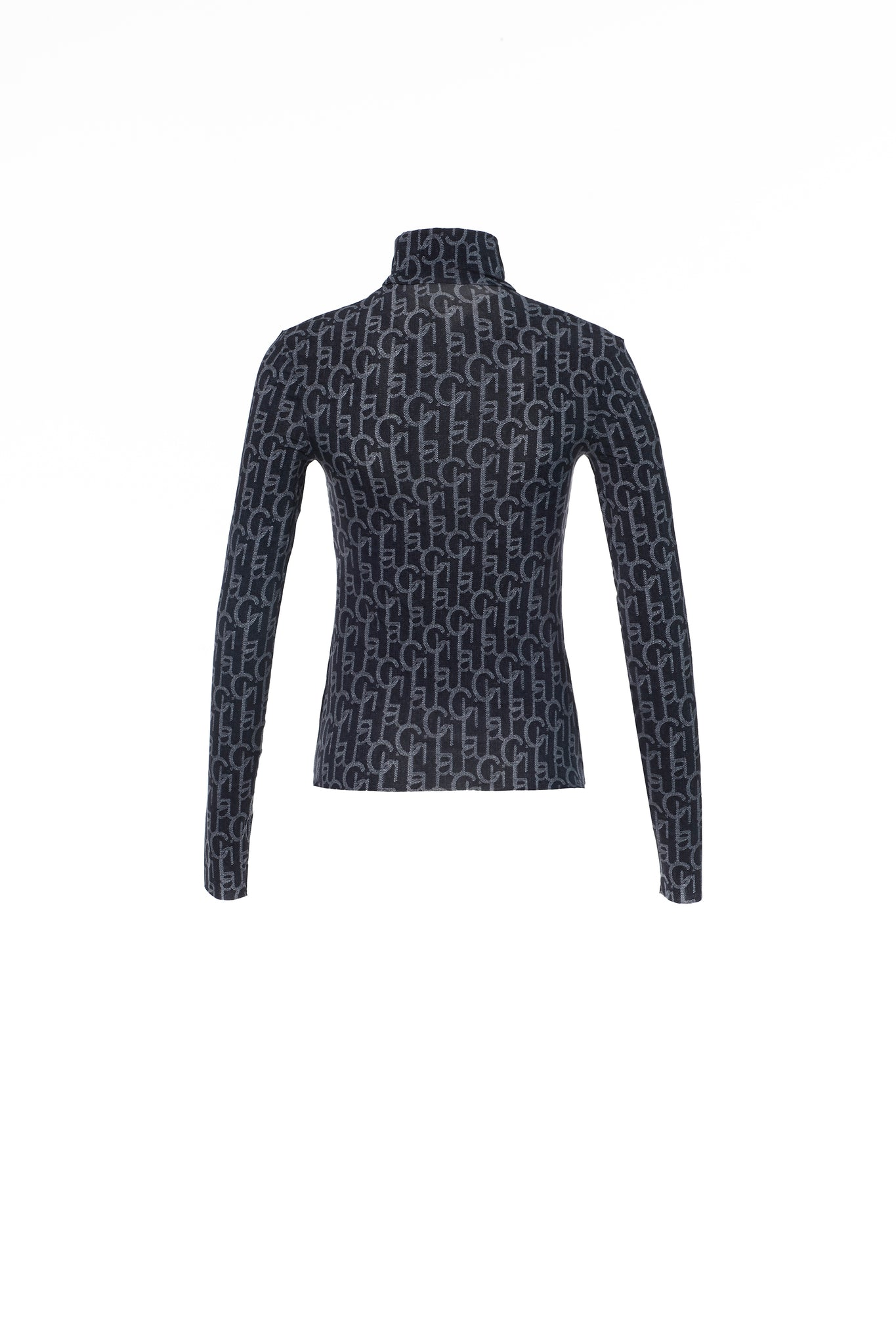 Dark Blue Laulau Chichi Print Turtleneck
