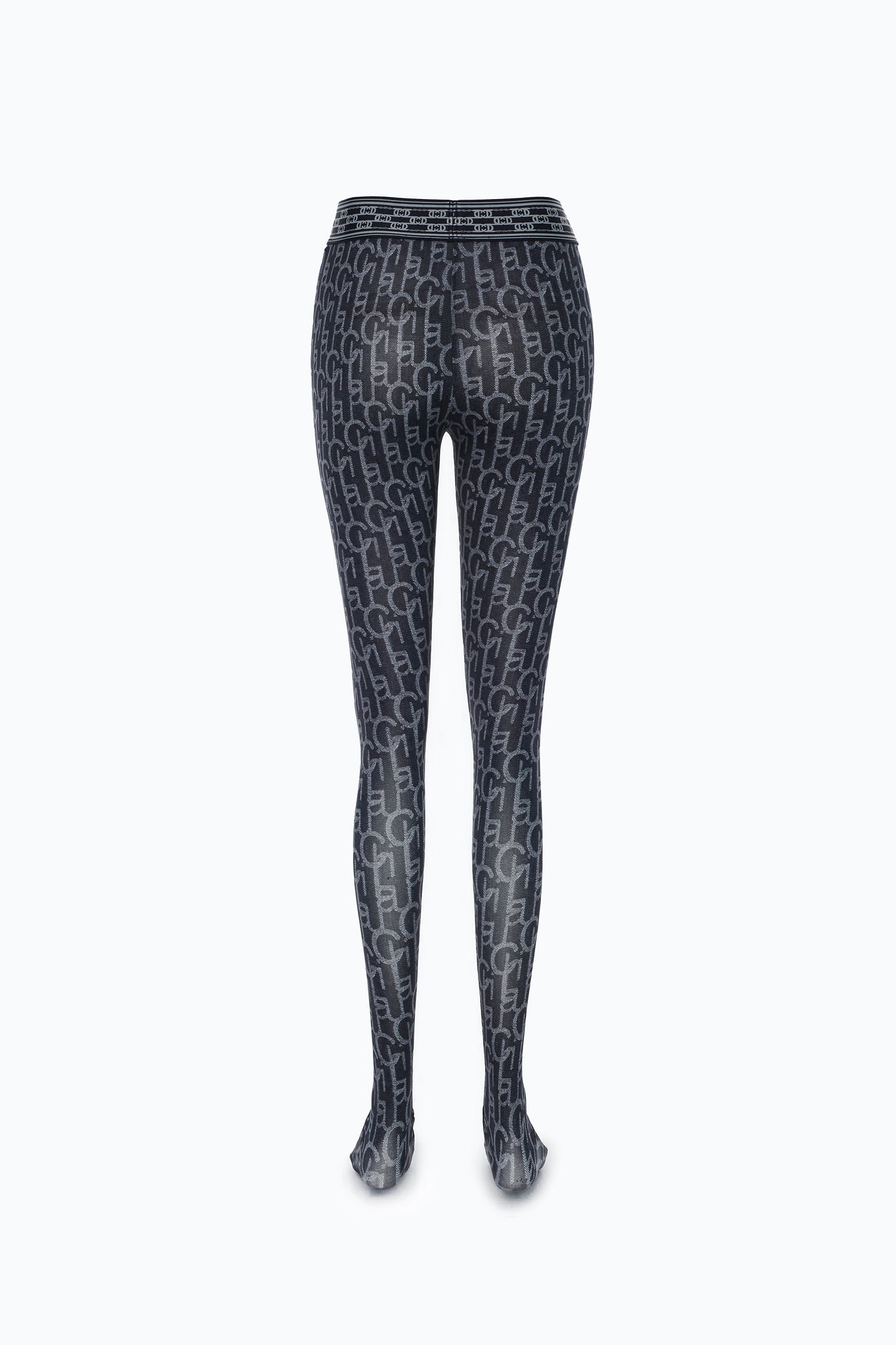 Dark Blue Laulau Chichi Print Tights