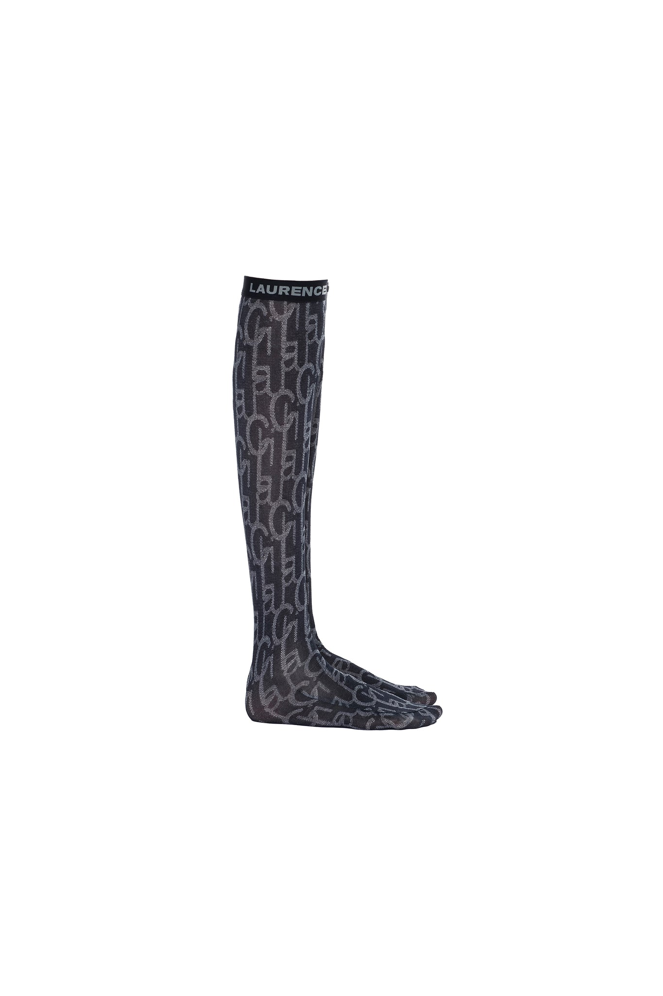 Dark Blue Laulau Chichi Print Knee-High Socks