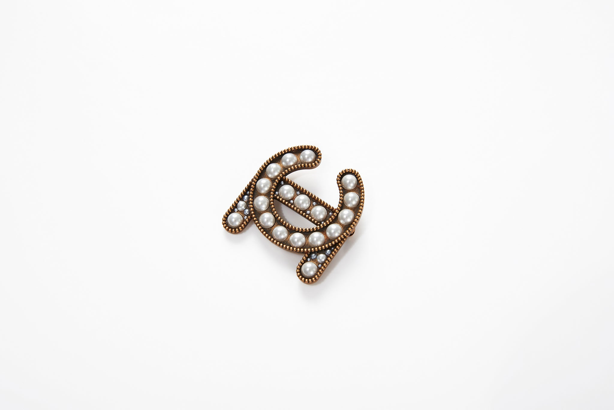 LC Logo Brooch, Small