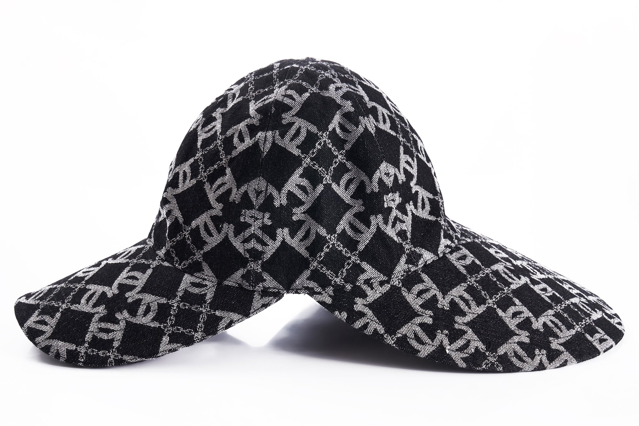 LC  Logo Denim Bucket Hat with Brim