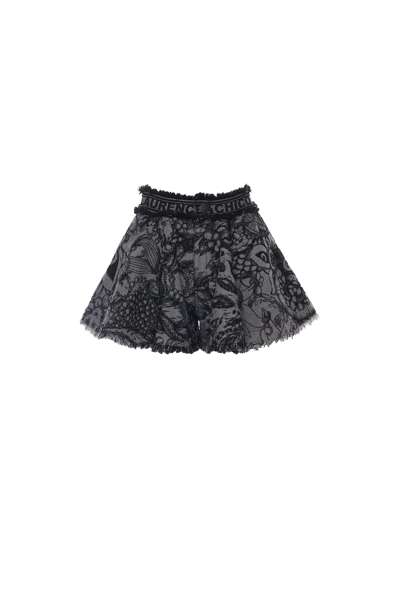 Van Dusen Garden Denim Jacquard Flared Shorts