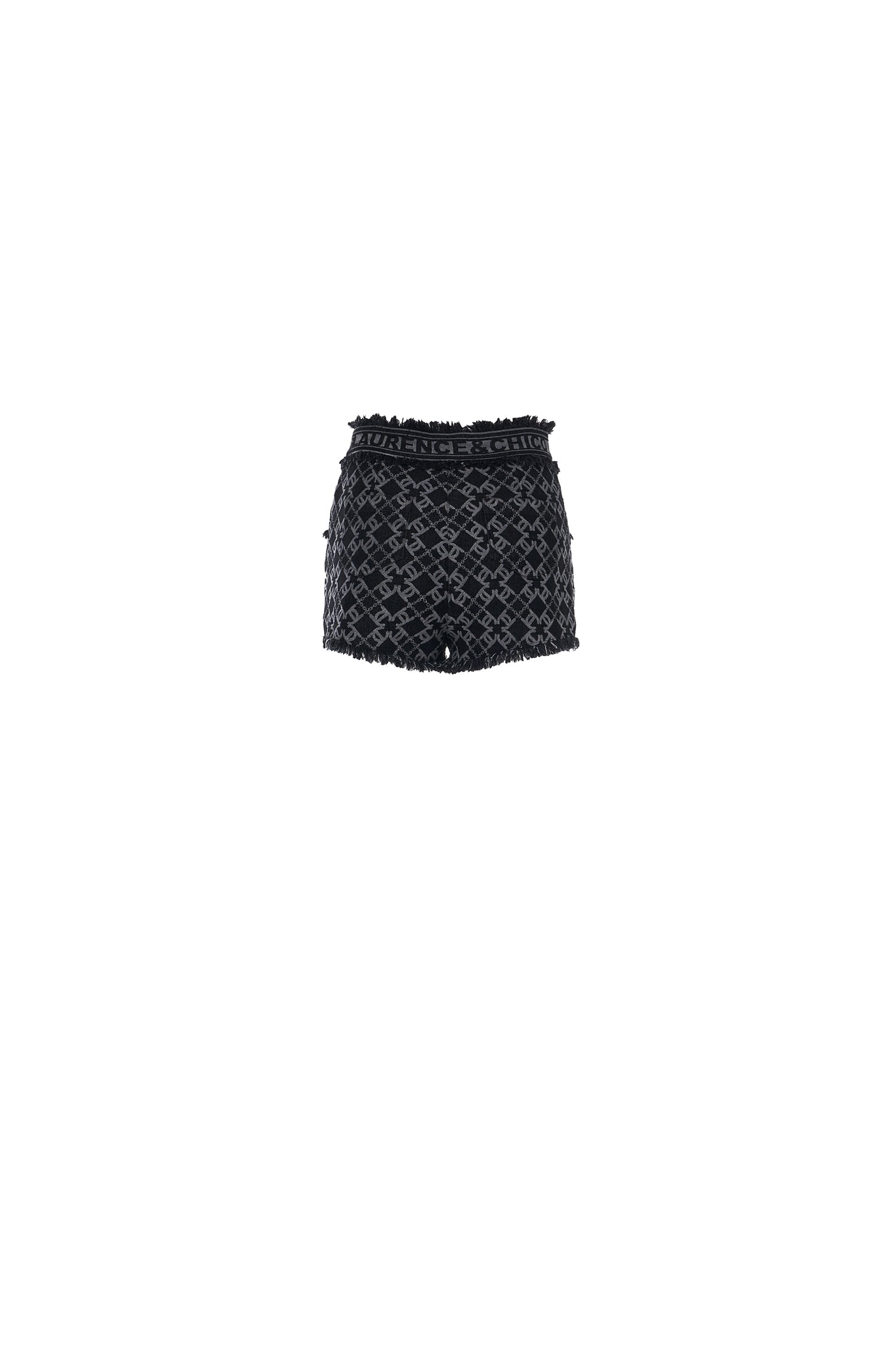LC Logo Denim Jacquard Shorts