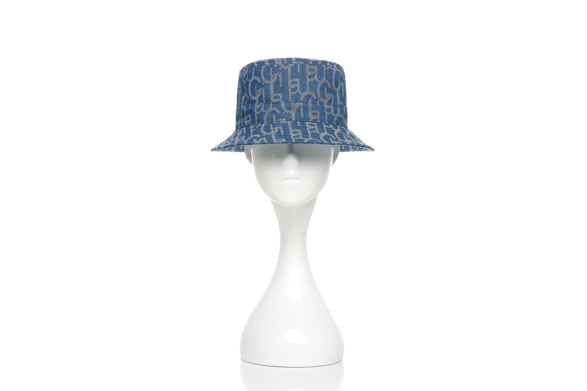 Chichi Laulau Jacquard Bucket Hat, Small Brim, Light Blue