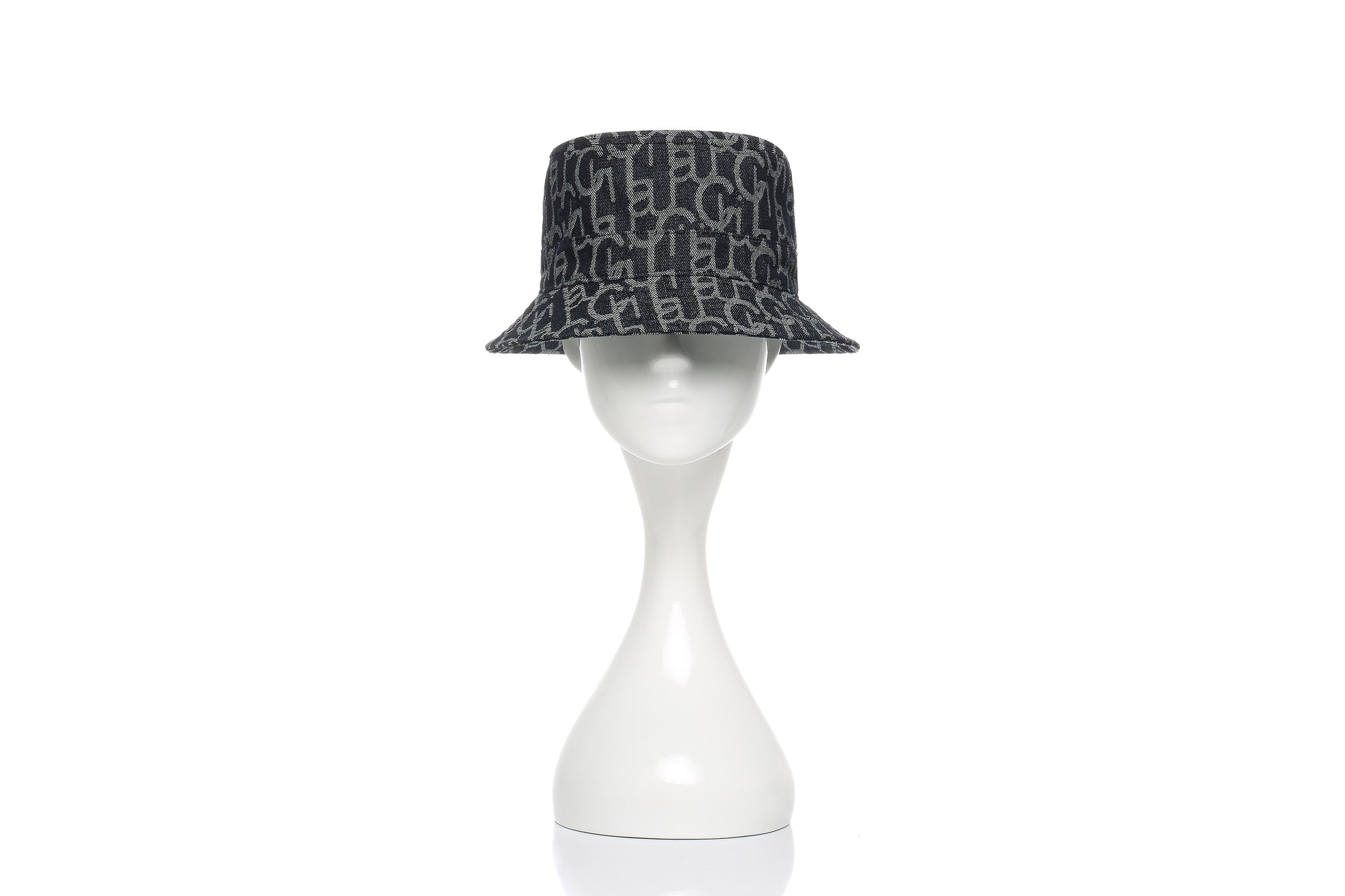 Chichi Laulau Jacquard Bucket Hat, Small Brim, Navy
