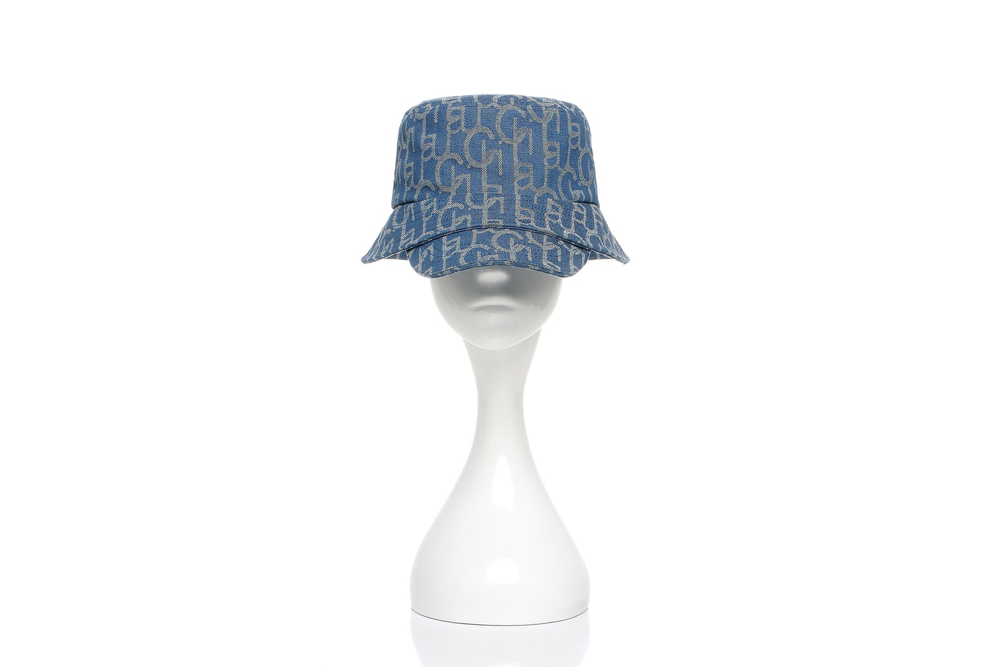 Chichi Laulau Jacquard Bucket Hat with Brim, Small Brim, Light Blue
