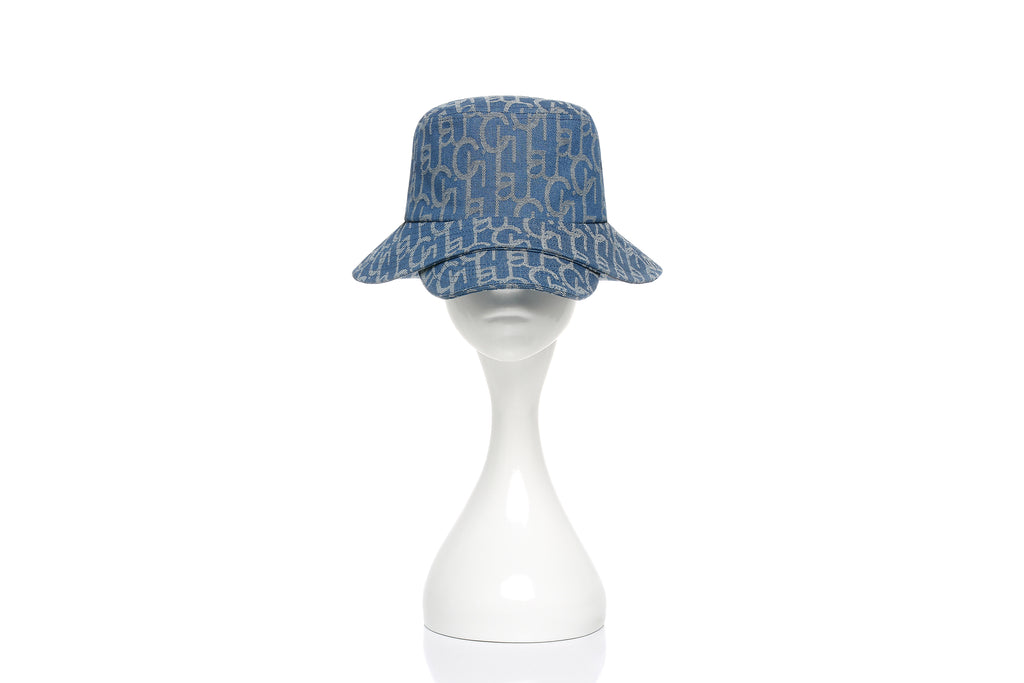 Chichi Laulau Jacquard Bucket Hat with Brim, Big Brim, Light Blue