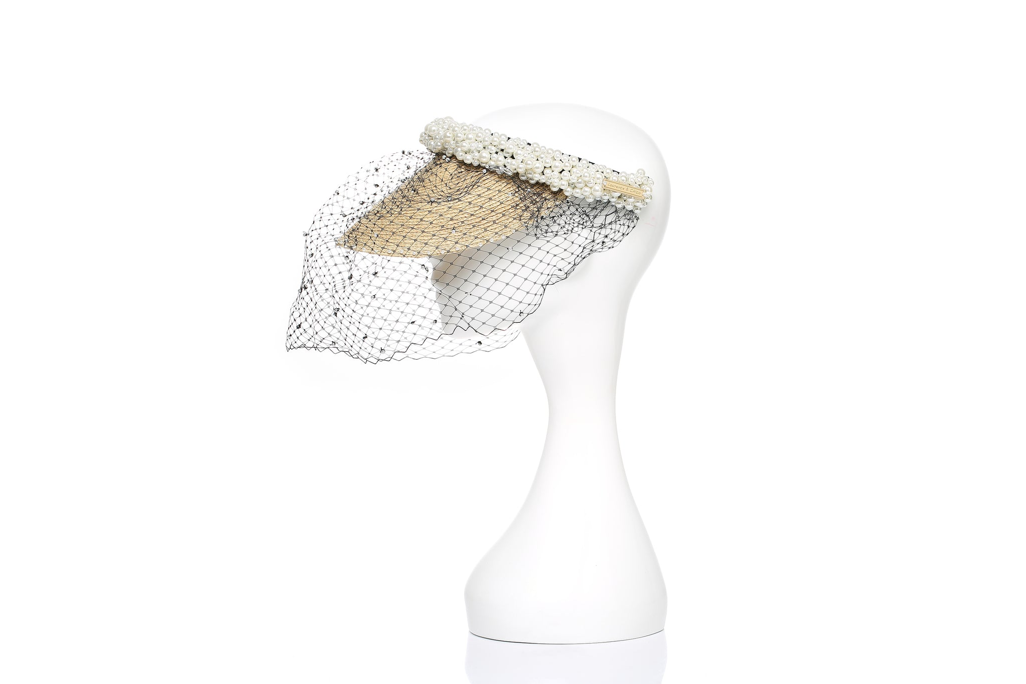 Pearl Visor with Face Veil
