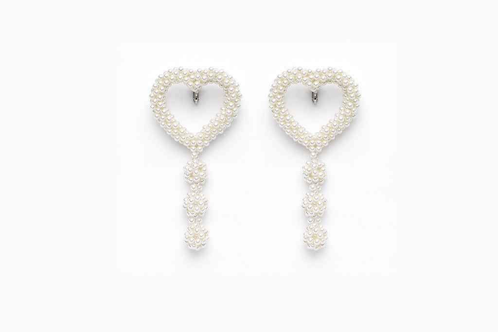 Heart Earclips, Small