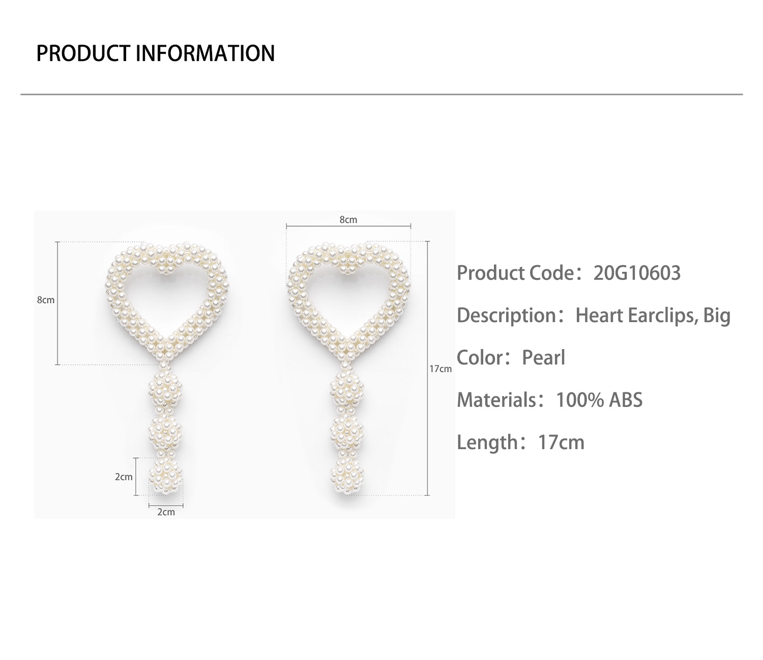 Heart Earclips, Big
