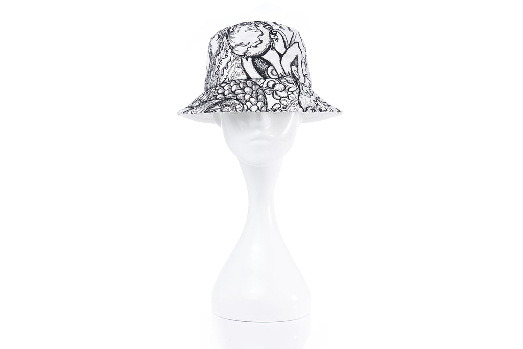 Van Dusen Garden Embroidery Bucket Hat, Small Brim