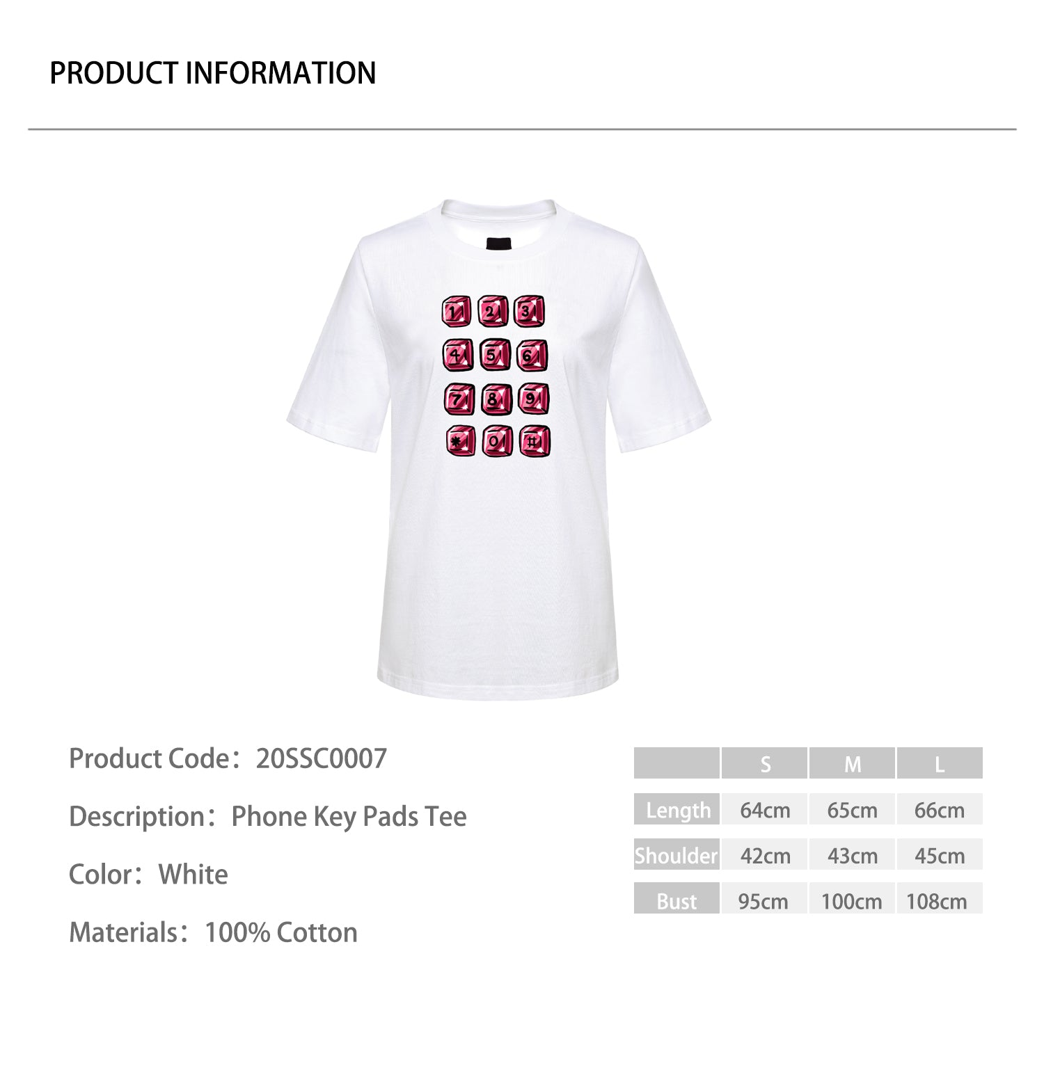 Phone Key Pads Tee