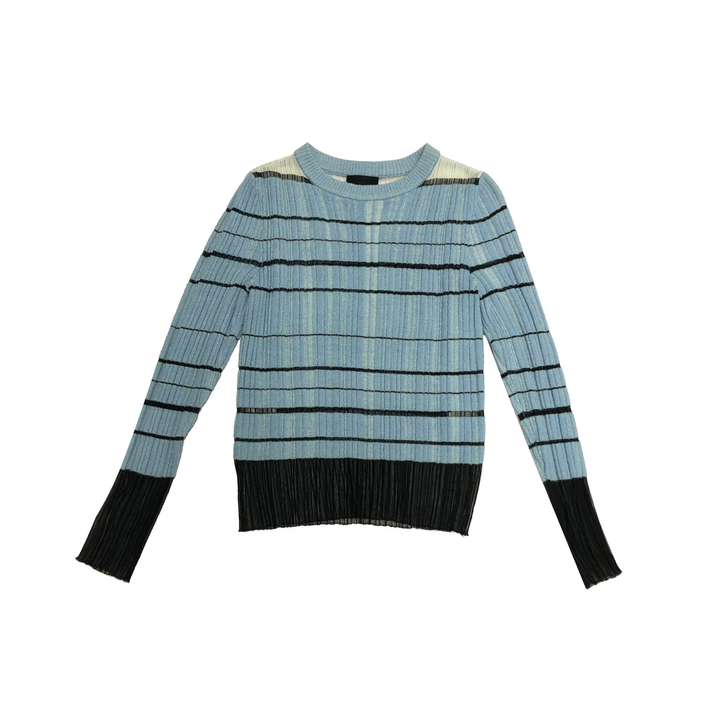 Knit Pullover, Blue