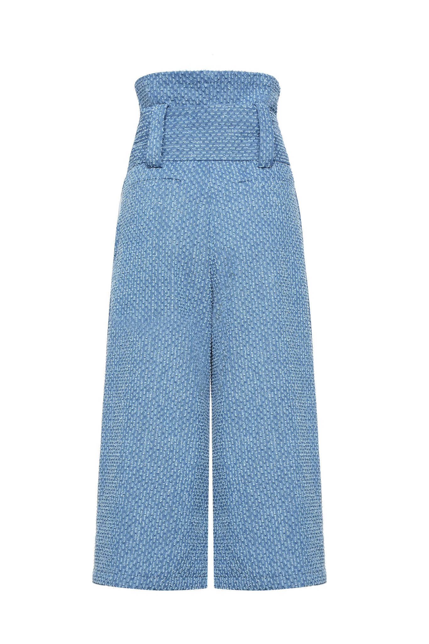 Culottes, Denim with Folds