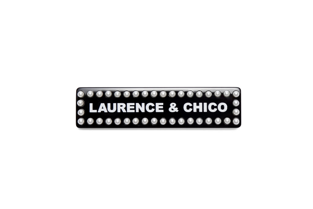 Laurence & Chico Logo Brooch