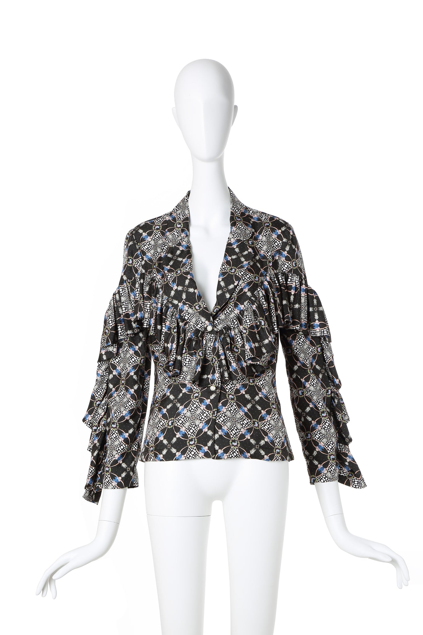Chico Printed Silk Blazer