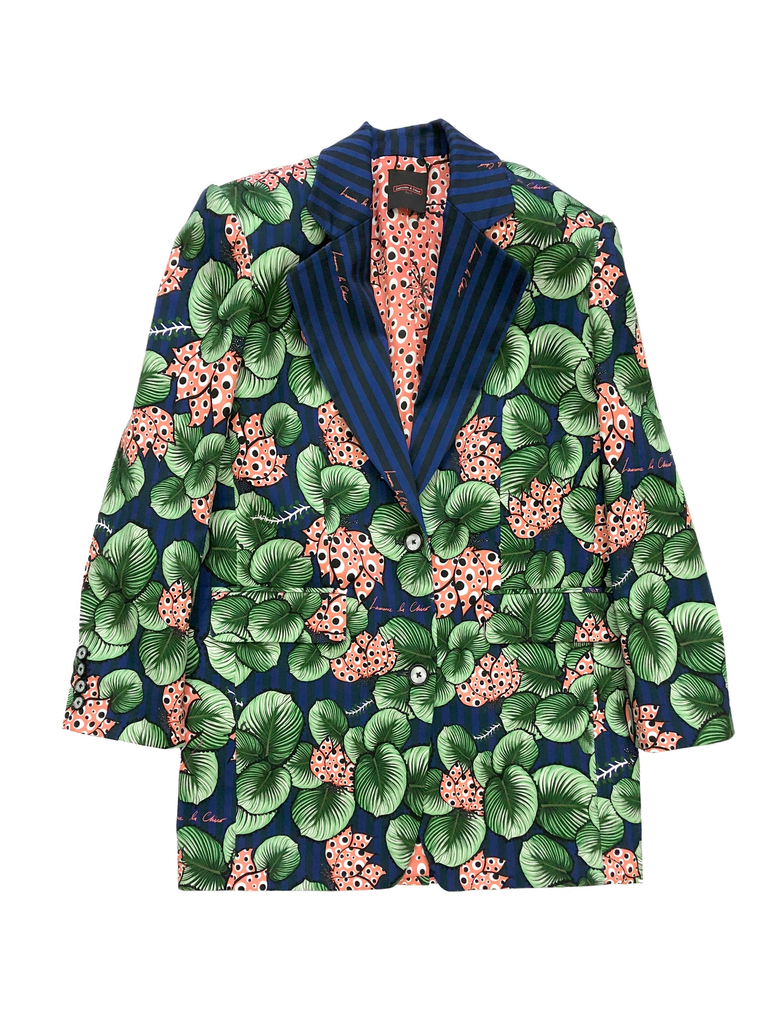 Oversized Blazer, Tropical Print