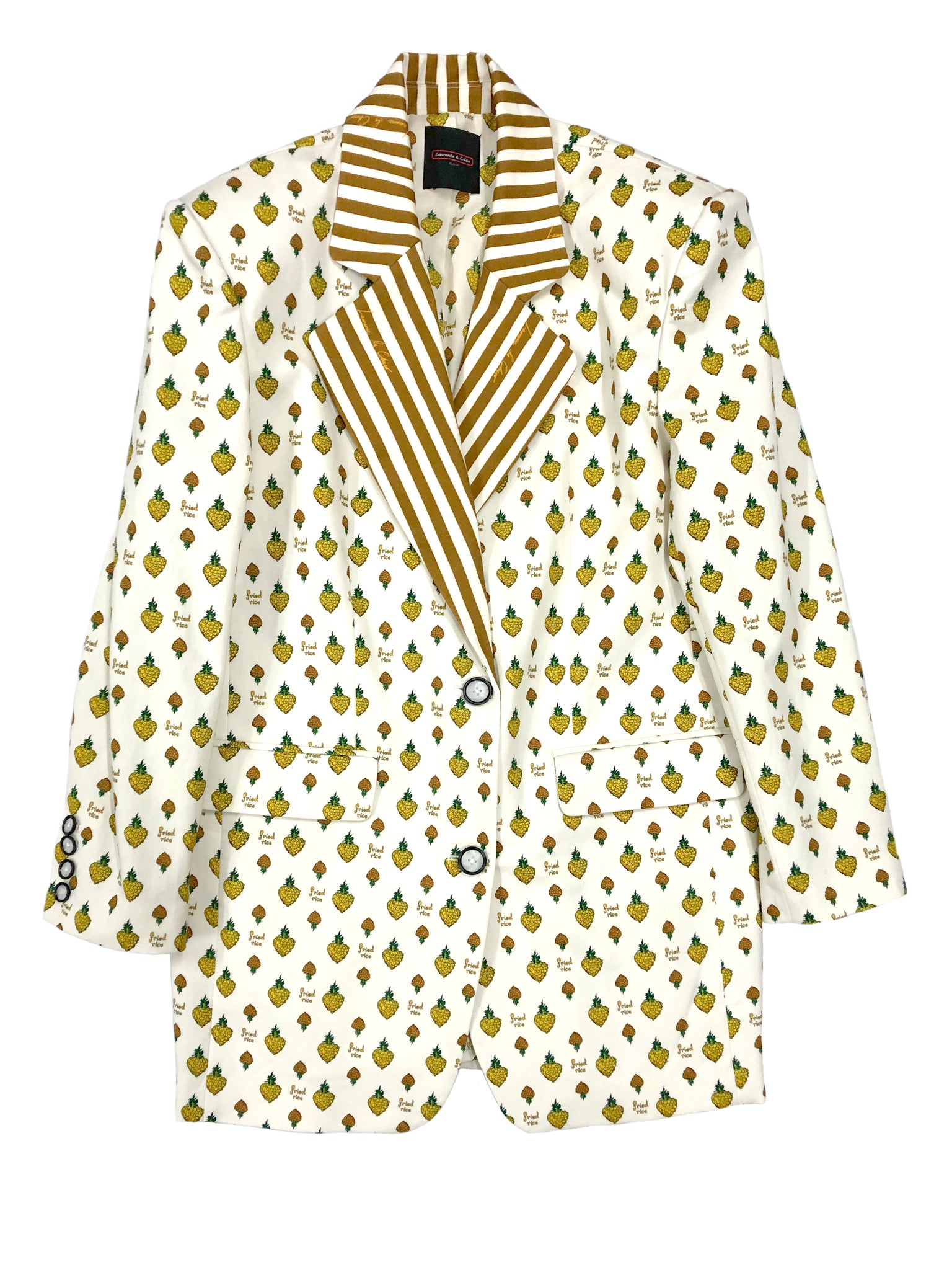 Oversized Blazer, Pineapple Fried Rice Print