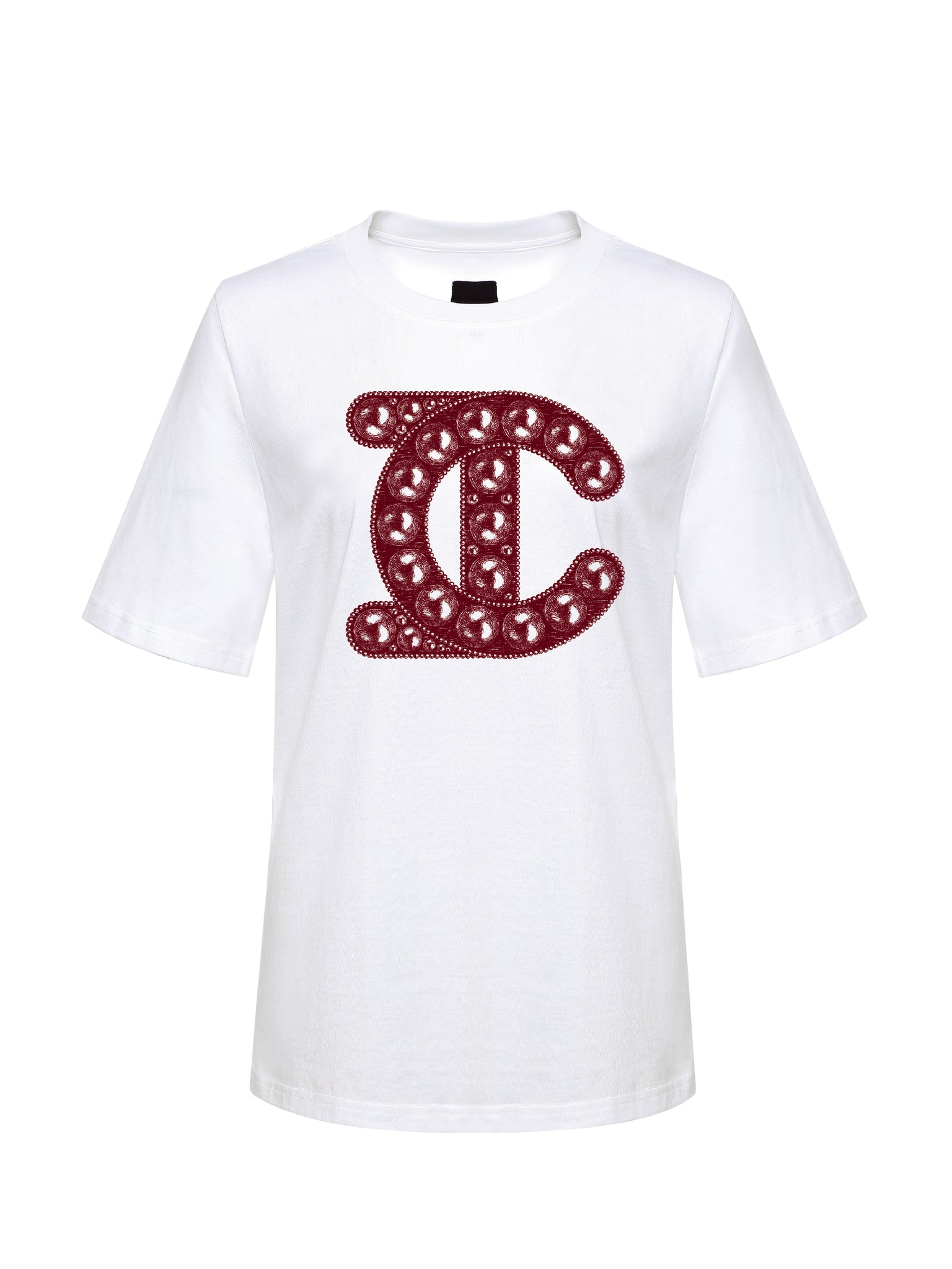 LC Logo Centered Tee, Red