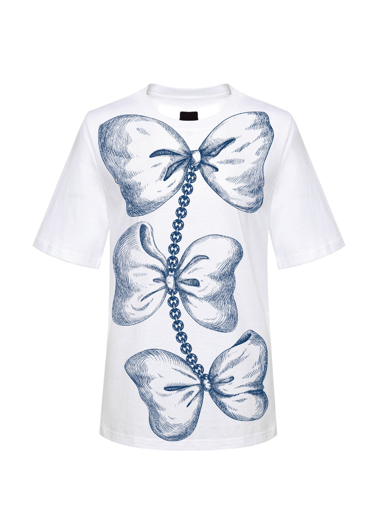 Bow Tie Tee, Blue
