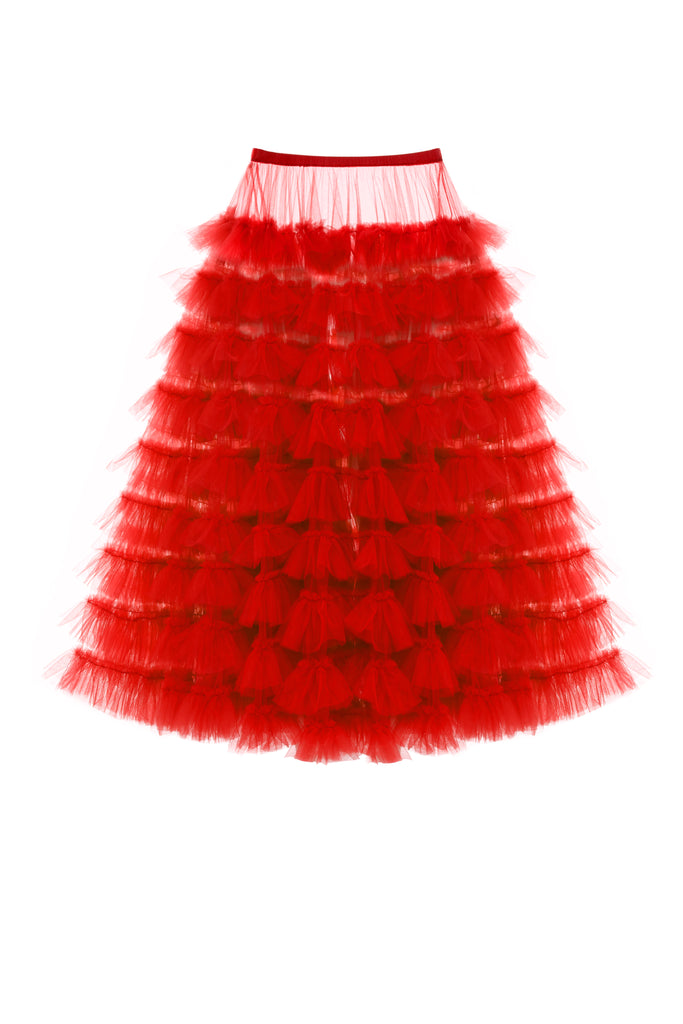 Tulle Skirt, Red
