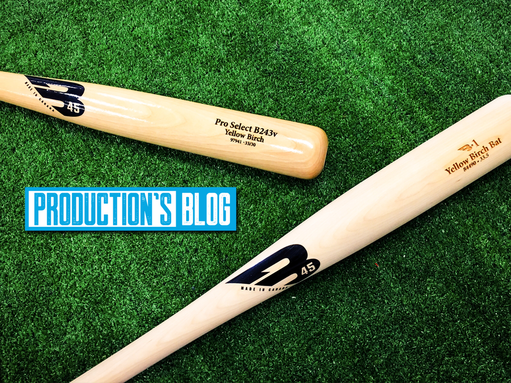 Production's Blog: Varnished or Unfinished Bats?