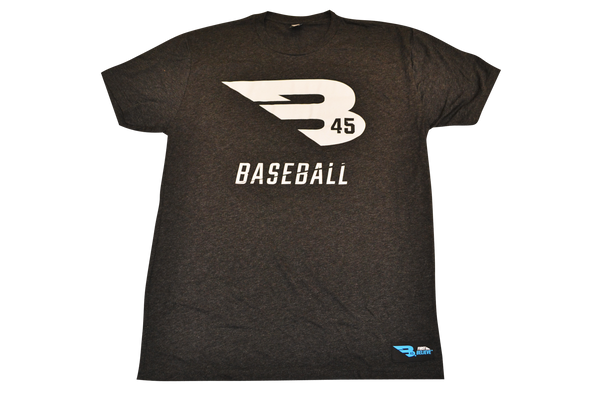 B45 Apparel Charcoal with White logo / Small B45 First To Believe Premium T-Shirt