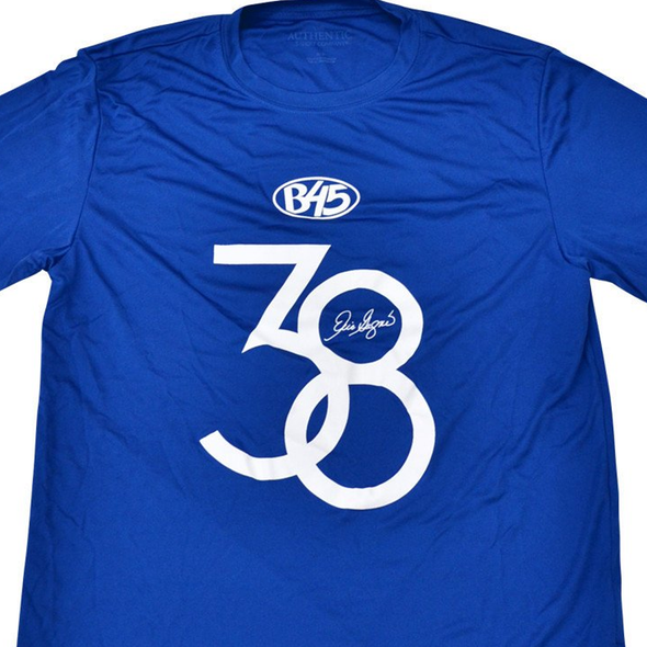 B45 Apparel Youth Medium / Royal Blue Eric Gagne 38 Performance T-Shirt | Vintage Collection