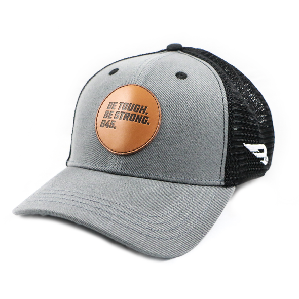 B45 Baseball Apparel B45 Trucker Hat - Leather Patch Edition