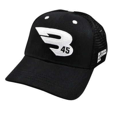 B45 Baseball Apparel Black B45 Trucker Hat - New Collection