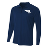 B45 Baseball Apparel Small / Navy 1/4 Zip Long Sleeve Pullover