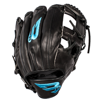 "B45 Baseball Canada Fielding Gloves Left-Hand Throw / Black with Blue logo Pro Series 11.25"" I-Web Baseball Glove - 2017 Model"
