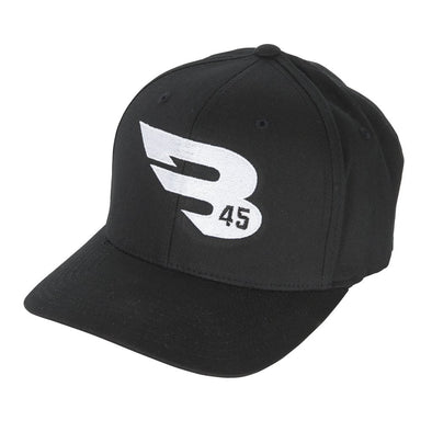 B45 Baseball Headwear S/M / Black Flexfit Hat by Yupoong