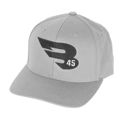 B45 Baseball Headwear S/M / Gray Flexfit Hat by Yupoong