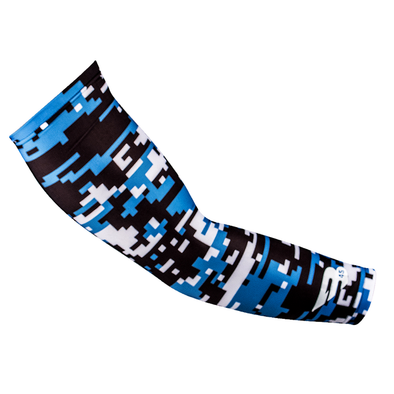 B45 Compression Arm Sleeves Digi Cyan Camo #BELIEVE Series Compression Arm Sleeves