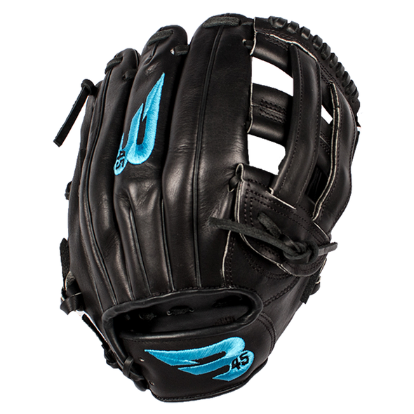 "B45 Fielding Gloves Right-Hand Throw / Black Pro Series 12"" H-Web Baseball Glove"