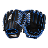 "B45 Fielding Gloves Right-Hand Throw / Black with Blue lacing Diamond Series 11.75"" Modified Trap Web Baseball Glove"