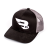 B45 Headwear Black/Charcoal with White logo B45 Trucker Hat