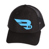 B45 Headwear Black with Blue logo B45 Trucker Hat