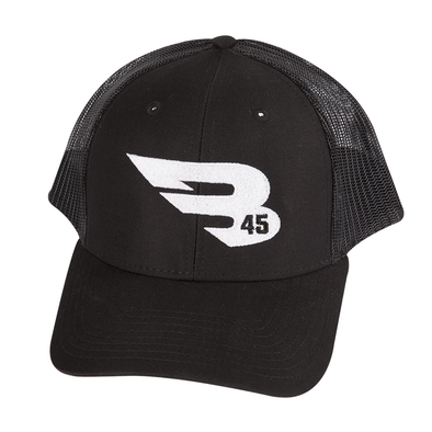 B45 Headwear Black with White logo B45 Trucker Hat