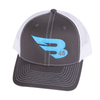 B45 Headwear Charcoal/White with Blue logo B45 Trucker Hat