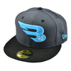 New Era Cap Headwear 7 59FIFTY New Era Dark Graphite & Black Hat