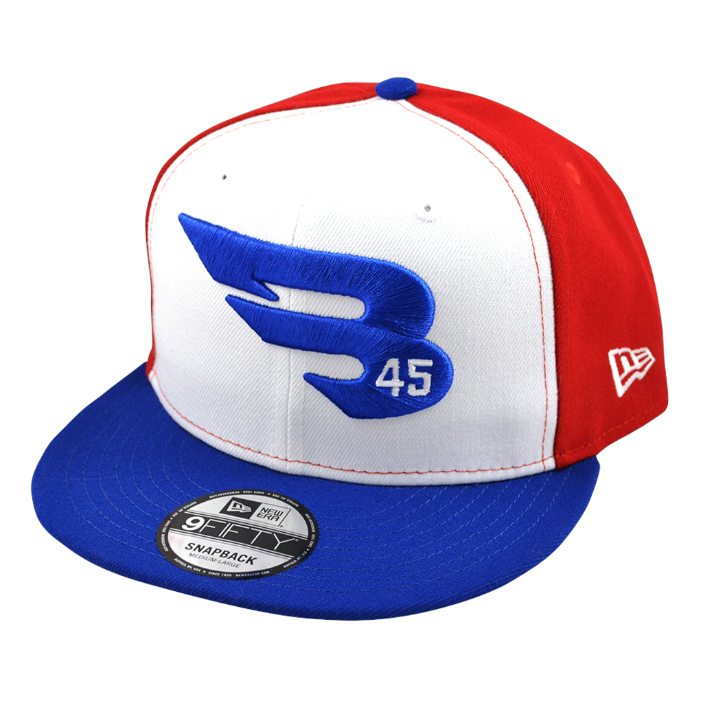 cb115d52 Blue-White-Red 9FIFTY New Era Snapback Hat