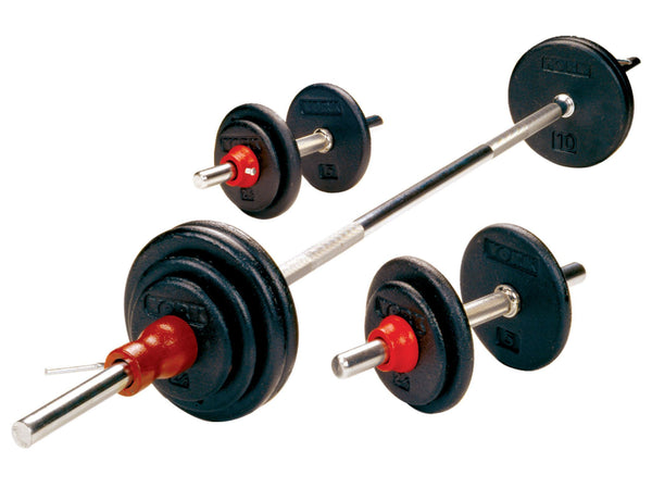 York Pro Cast Iron Dumbbell/Barbell Set