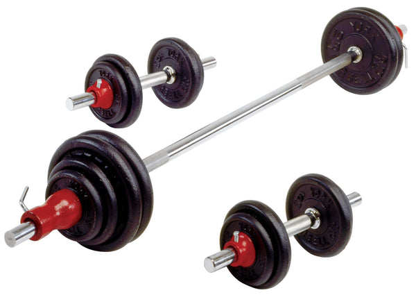 York Contour Cast Iron Dumbbell/Barbell Set