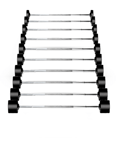 York Rubber Fixed Pro Straight Barbells