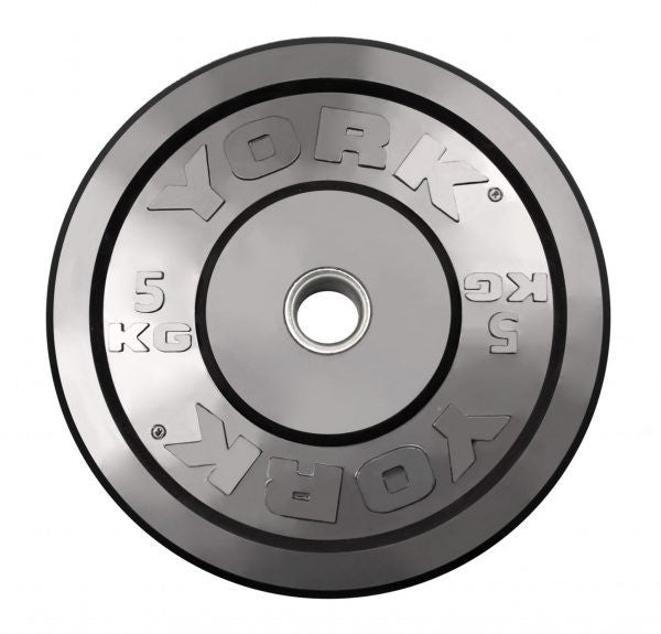 York Rubber Training Bumper Plates-Black/Metric