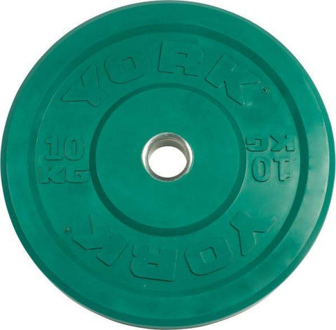York Colored Rubber Training Bumper Plates-Metric